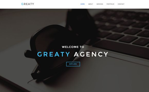 GREATY - One Page HTML Template by RikyBlue on Creative Market
