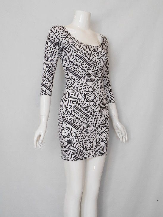 Monochrome print jersey dress by Love Label