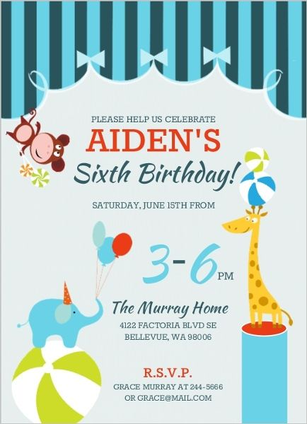 31 best Circus Themed Birthday images on Pinterest Birthdays - circus party invitation