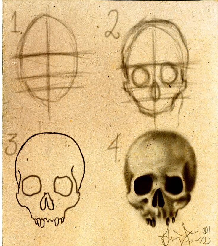 How to draw a skull Stepbystep by DForssten.deviantart.com on @DeviantArt