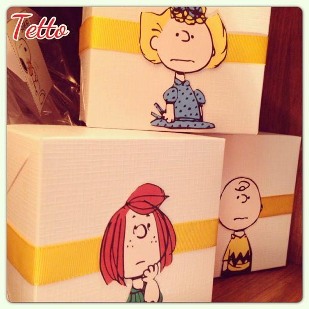Caixinhas de doces! Snoopy! Charlie Brown por @meninasdatetto www.blogdatetto.com