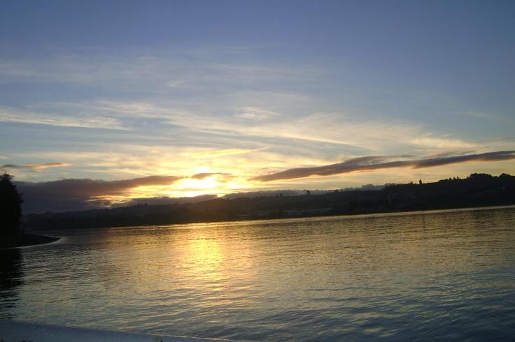 Desde Achao hacia Dalcahue, Chiloé, Chile