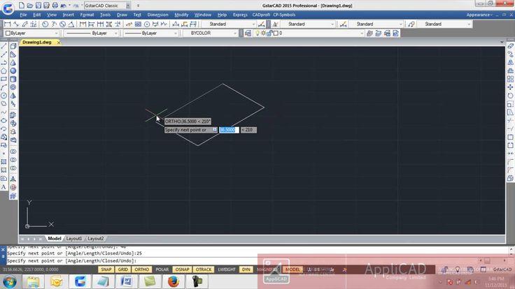 GstarCAD Quick Training : Menggambar objek 2D & Pemberian dimensi pada Isometric drawing GstarCad