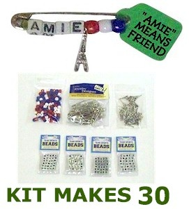 """Girl Scout France Amie SWAP Kit """"Amie"""" means Friend in French adorable for Thinking Day for complete kit supplies go to MakingFriends.com"""