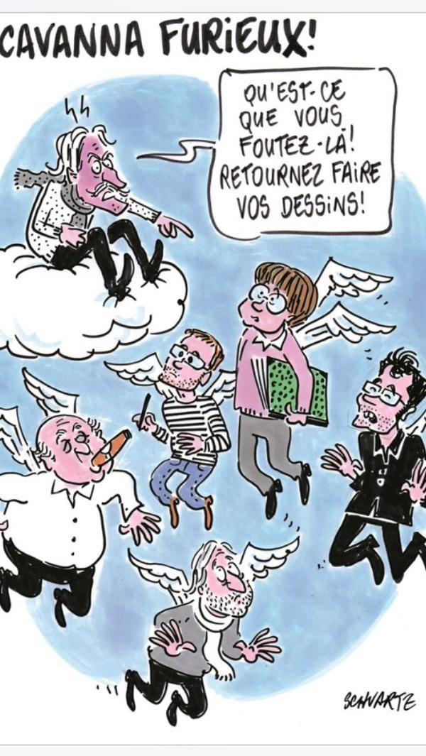 Le dessin de Schwartz ce matin dans Ouest France en hommage aux victimes #JeSuisCharlie