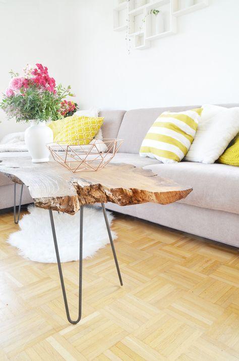 DIY: Couchtisch aus Massivholz selber bauen – Nadja März