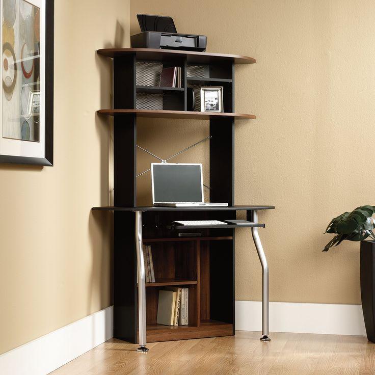 best 25 corner computer desks ideas on pinterest white corner computer desk office computer. Black Bedroom Furniture Sets. Home Design Ideas