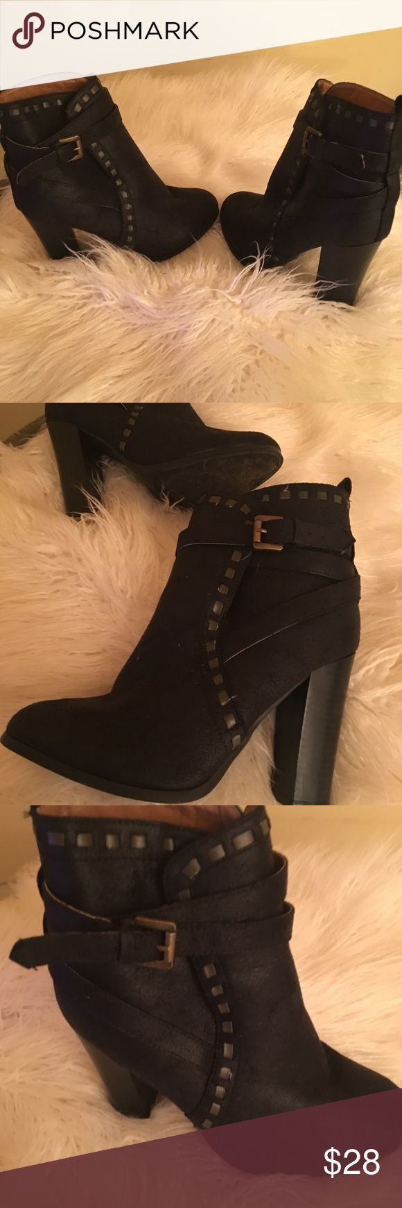 Booties Venus black faux suede booties. These are by far the most comfortable booties ever! I needed a pr to wear in New Orleans walking around and dancing all night, they were absolutely perfect! VENUS Shoes Ankle Boots & Booties