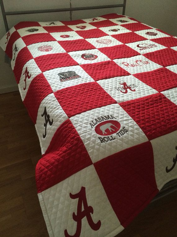 Alabama football quilt embroidery  by SHERRYSTOTES on Etsy, $250.00