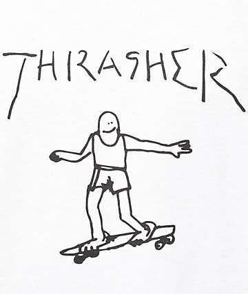 3826404b Thrasher Gonz White T-Shirt   great graphics.   Shirts, T shirt ...
