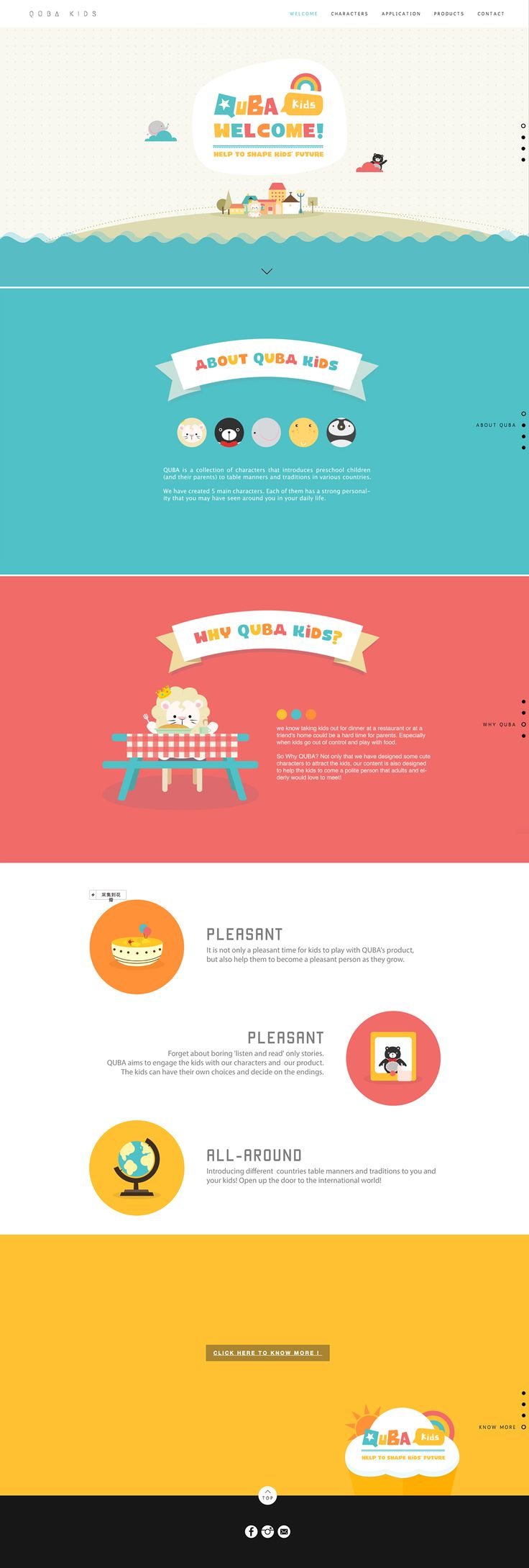 QUBA KIDS - Website and Branding on Behance