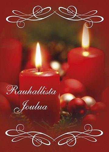 Anki :: Nro 8 Joulukortti Kynttiläaihe - Joulukortit - Postikortit ym Painotuotteet