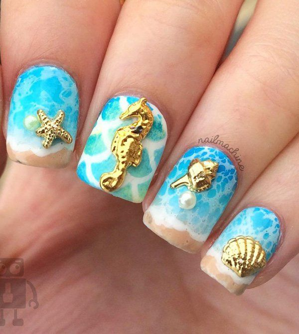45 Ocean Nail Art Ideas - 452 Best красивый маникюр море! Images On Pinterest Summer Nails