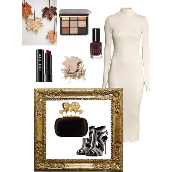 A fashion look from November 2014 featuring H&M dresses and Alexander McQueen clutches. Browse and shop related looks.