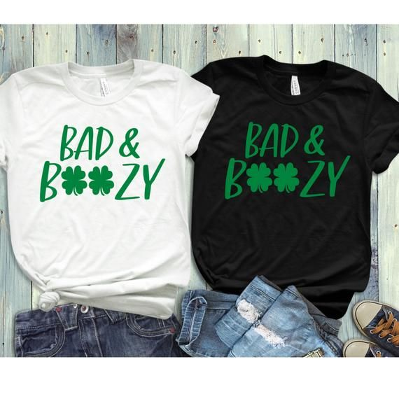 86bfc2ca3 St. Patricks Day Shirt Women, Bad and Boozy, Let's Get Ready to Stumble