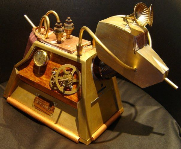 K-1889 - Steampunk Dr. Who K-9 by ~Sydeian on deviantART. Look at his ears!