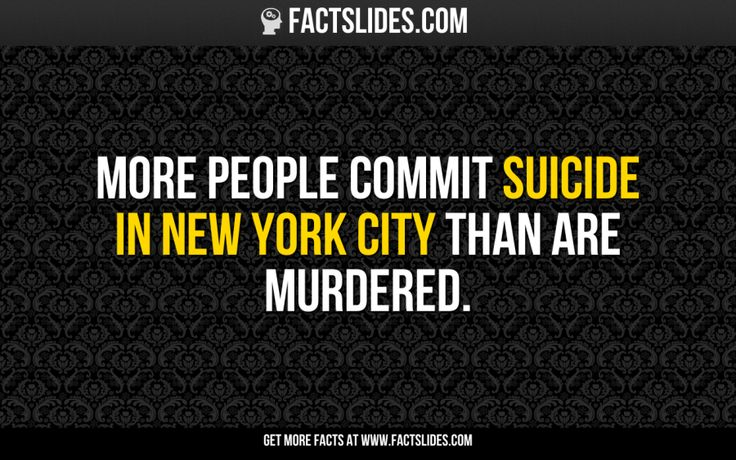 More people commit suicide in New York City than are murdered.