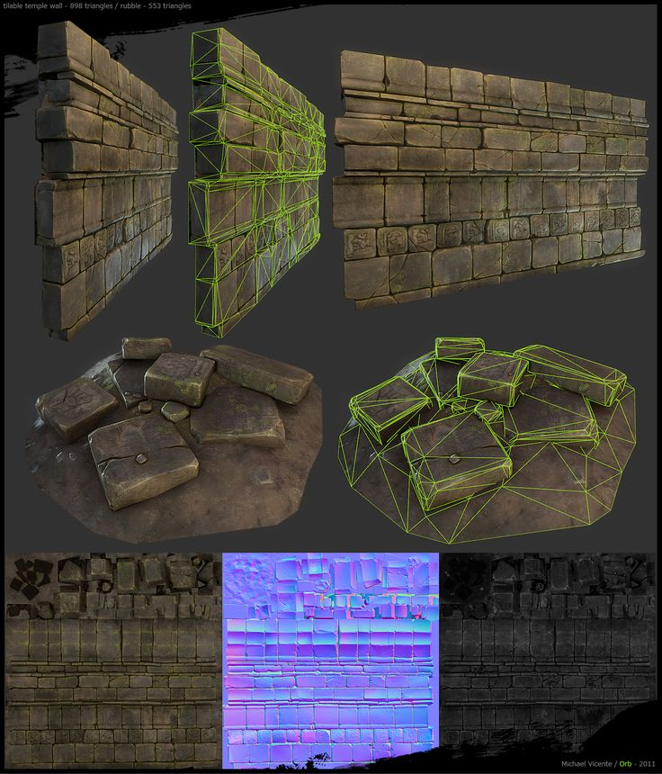 Very rich and detailed, yet consists of clean, relatively simple, and optimized geometry.