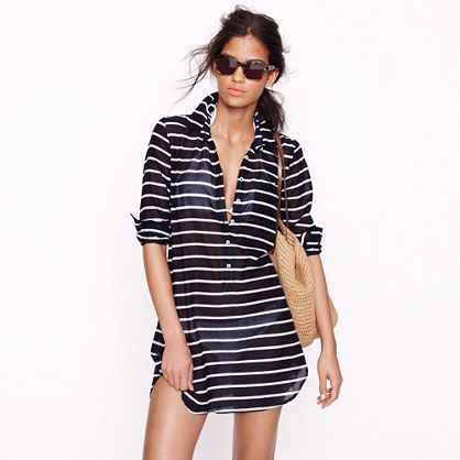 Stripe tunic- cute cover up: Bath Suits Covers, Swim Covers, Style, Beaches Covers Up, J Crew, Swimsuits, Beaches Coverup, Beach Covers, Jcrew