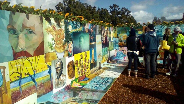 Fan Art From The Van Gogh Museum Sunflower Maze Sept 5 2015