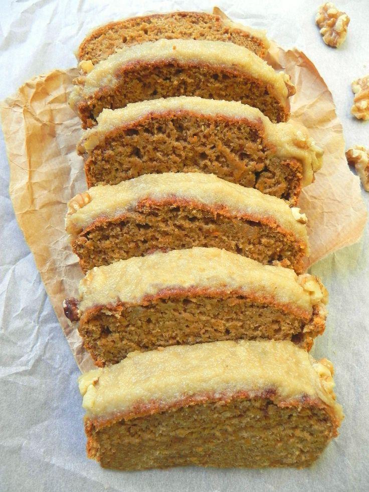 Healthy vegan carrot cake loaf oil free recette - Recette cake sale vegetarien ...