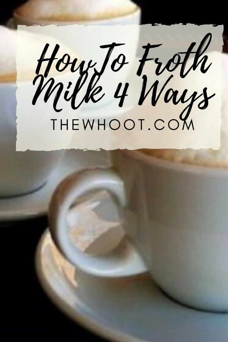 How To Froth Milk Without Machine Video The WHOot in
