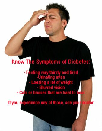 Know the symptoms of diabetes...<---more importantly, know that not everyone exhibits the same symptoms. I didn't have ANY of these symptoms