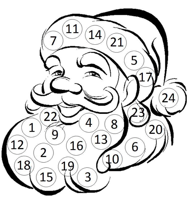 Készítsd el! :: OkosKaLand - Adventi naptár - Készítsetek MIKULÁSOS ADVENTI NAPTÁRT! December 1-től mindennap ragasszatok egy kis vattapamacsot a számok helyére!