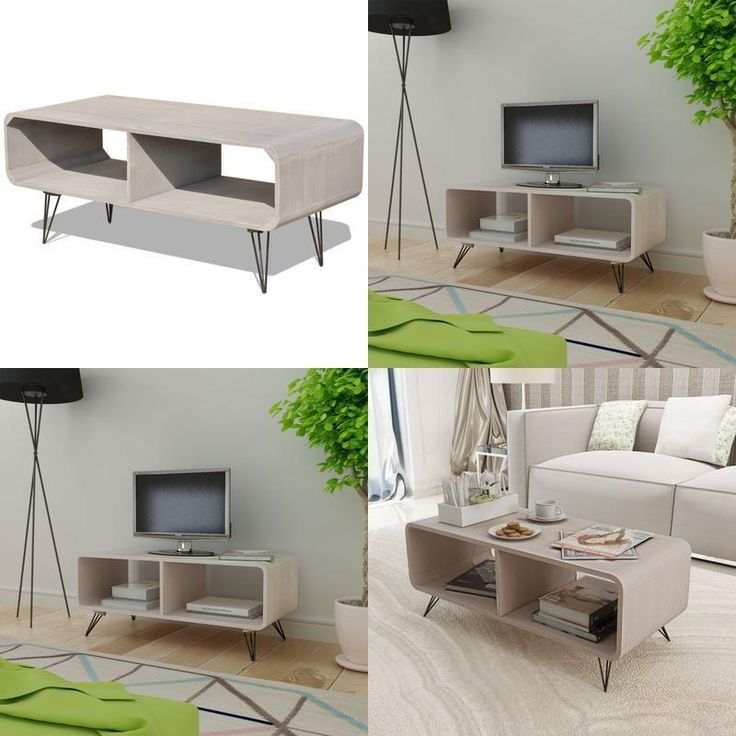 Tv Stand Coffee Table Multimedia Television Cabinet Remotes Magazines Storage Li