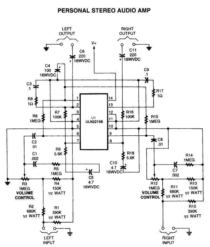 2 watt stereo amp