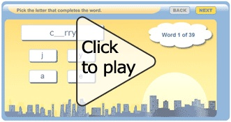 Website with free spelling & vocab games for kids!