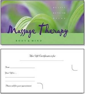 25 best images about gift certificates on pinterest free for Massage therapy gift certificate template