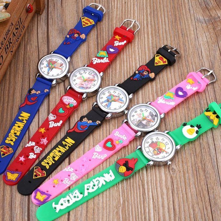 5 Colors Sport Watch Kids Movie Characters Fashion Bracelet Analog Quartz Watches Frozen Sport Wrist Watch Gift Montre Enfant