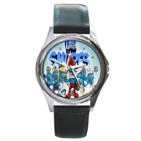 The Smurfs 2 Family design round metal watch by awrelieaccessories