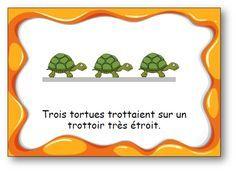 "Virelangue ""Trois tortues"""