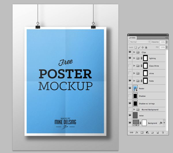 Free Poster Mockup on Behance