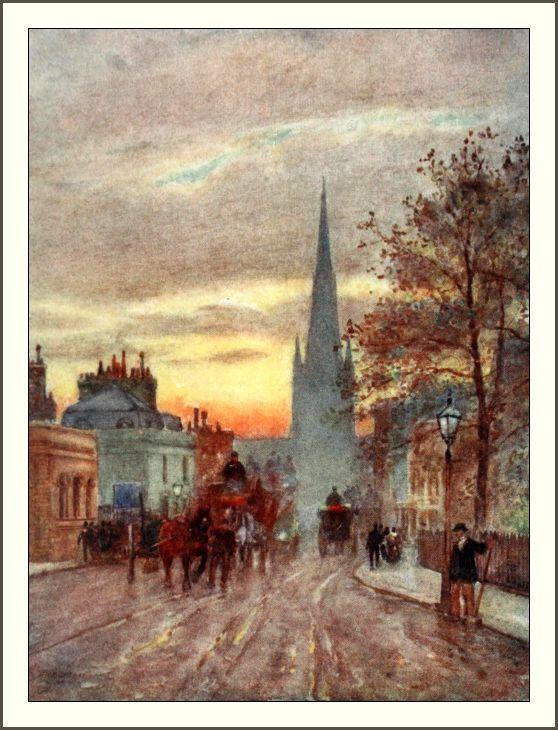 Marshall, Herbert (1841-1913) - The Scenery of London 1905 - Grosvenor Road, Pimlico. #vintage, #london