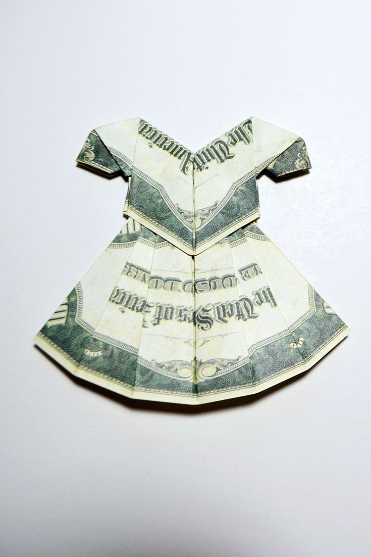 Money Origami Dress - Folding Instructions with Photos & Video ...   1102x735