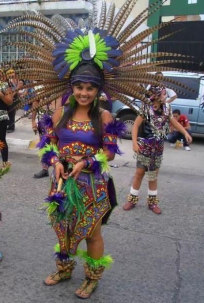 Trajes De Danzantes Aztecas   trajes para danza azteca y hueseras y copilis