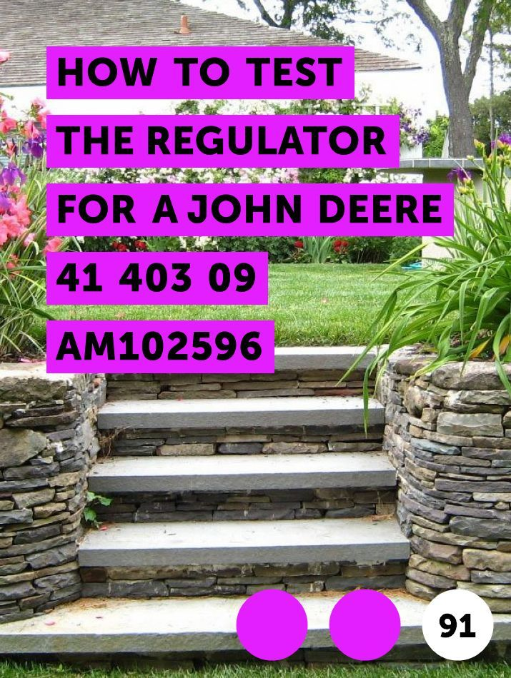 How to Test the Regulator for a John Deere 41 403 09