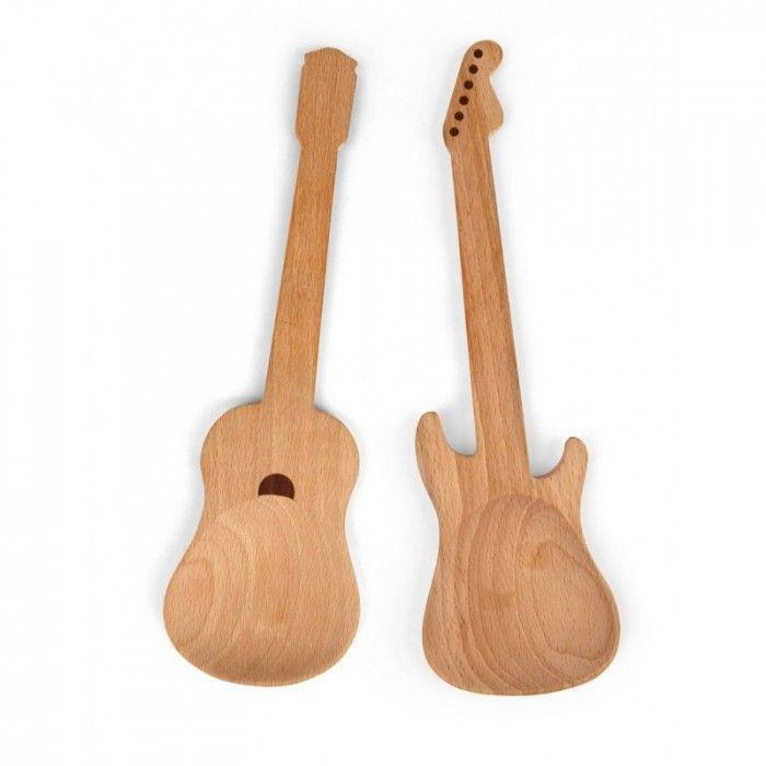 Salade bestekset gitaren (set van 2)   Het grootste Kikkerland assortiment bestel je bij 100% CADEAU