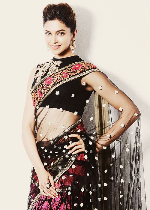 Deepika Padukone in net saree