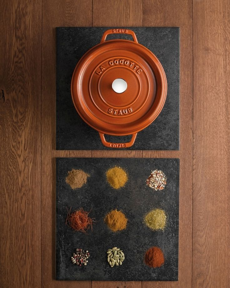 Spice up your Fall recipes with a stunning cast iron cocotte from Staub! #Cookware #DutchOven #Staub #SlowCooking #Braising