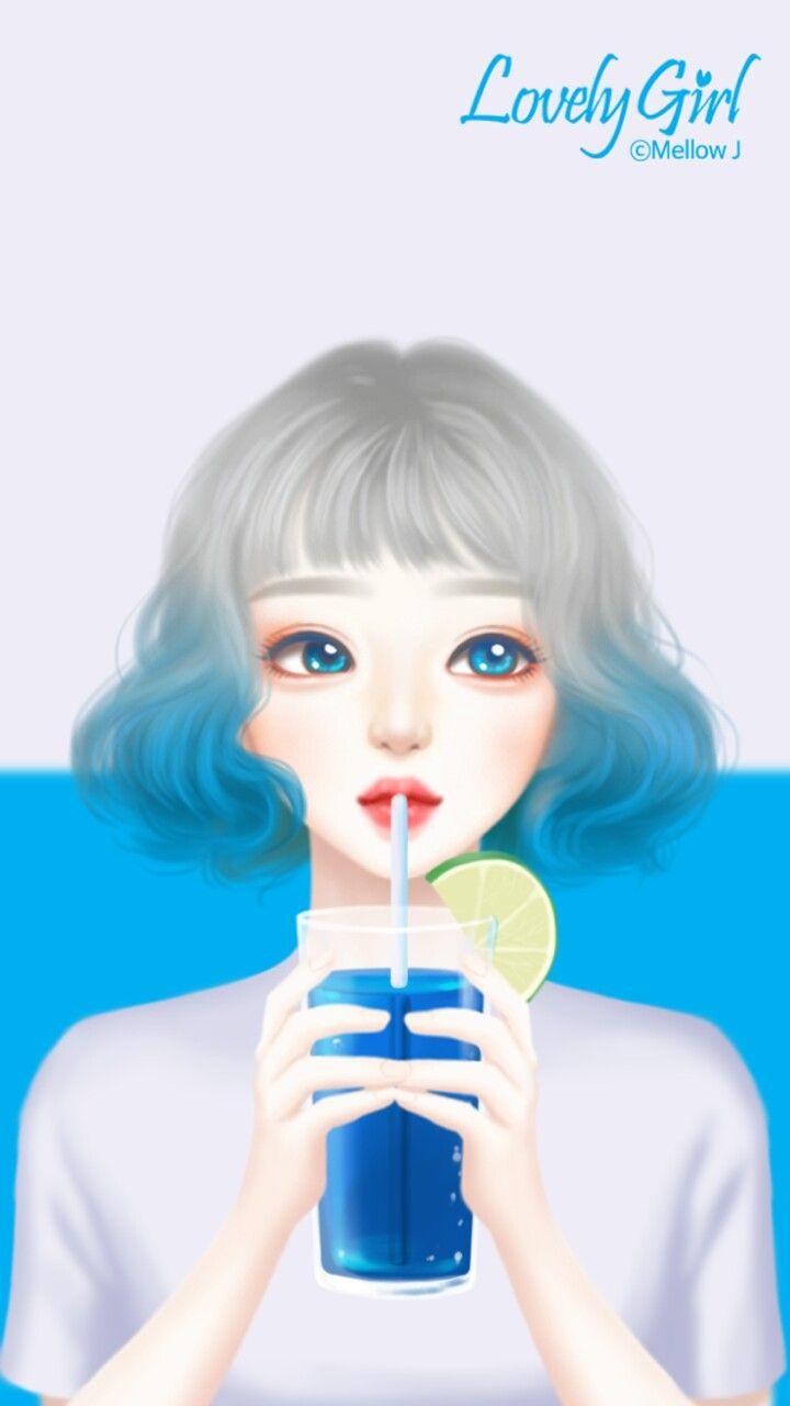 Enakei Gadis Seni Art Pop Gadis Kartun Lucu