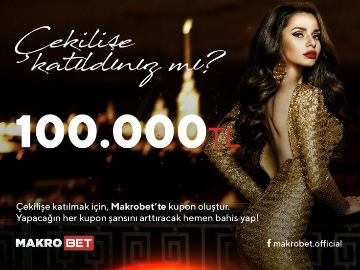 100.000 TL.'lik Büyük Ödül Kazanma Fırsatı Makrobet'te. Türkiye'nin En İyi Bahis Sitesi Makrobet üyelerine 100.000 TL. kazanma fırsatı veriyor. Detaylar ve katılım şartları için sitemizi ziyaret ediniz. http://makrobet4.com