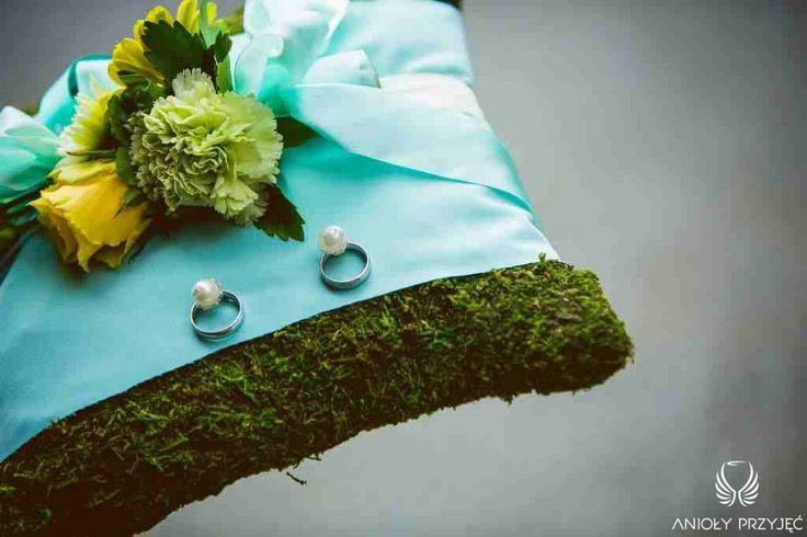 3. Green Wedding,Pillow for wedding rings,Moss / Wesele w zieleni,Poduszka na obrączki,Mech,Anioły Przyjęć