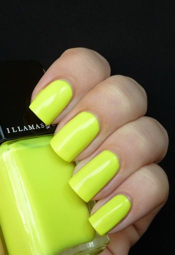 Neon Lime Nail Color then put red stripes...BOOM its softball nails