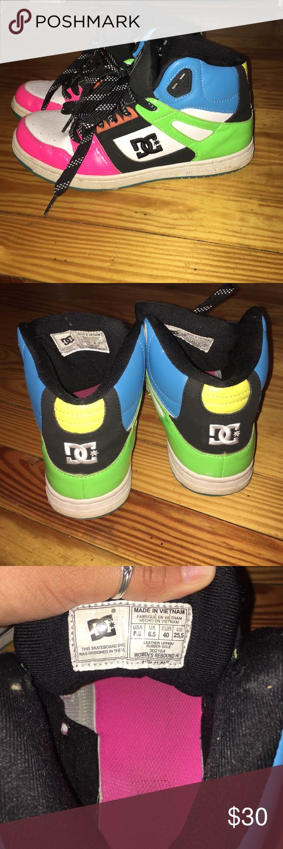 DC Skate Shoes multicolored hightop skate shoes/ used but in superior condition DC Shoes Sneakers