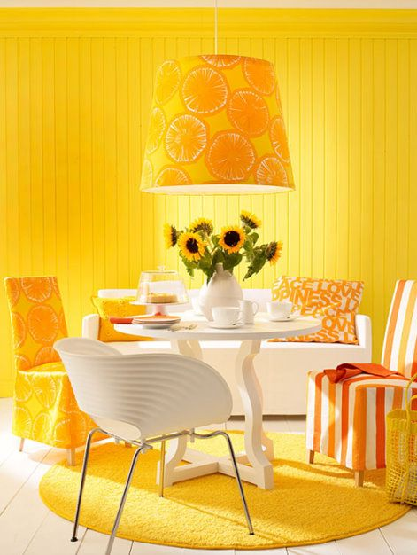Orange And Yellow Color Scheme For Dining Room Decorating   YELLOW! Part 91