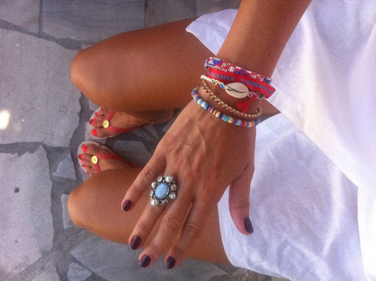 Summer style, white with beads www.annamavridis.com